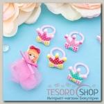 Набор детский Выбражулька 5 предметов: брошь, 4 кольца, принцесса, цвет МИКС - бижутерия