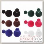 Серьги Диорис бархатные, цвет МИКС - бижутерия