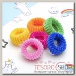 """Резинка для волос """"Махрушка"""" (набор 12 шт) 6 см цветные - бижутерия"""