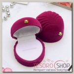 Футляр под кольцо Ракушка морская 5,3x5,3x3,5см, цвет розовый - бижутерия