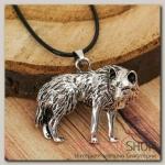 Кулон мужской Волк, цвет чернёное серебро - бижутерия