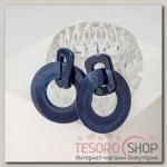 Серьги пластик Глянец, цвет синий - бижутерия