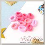 Резинка для волос Махрушка (набор 72 шт) 1,5 см, розовые оттенки - бижутерия