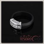 Кольцо Эрехтея, размер 17, цвет белый в чернёном серебре