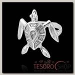 Кольцо Морская черепаха, размер 17, цвет чернёное серебро