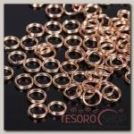 Купить Кольцо соединительное двойное 0,6 мм (набор 50 гр, ±510 шт) СМ-1025, цвет золото