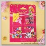 Набор детский для создания браслета Выбражулька карусель, 4 краба, афрорезинки, цвет МИКС - бижутерия