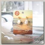 Серьги с жемчугом Эксклюзив барокко, ракушка, цвет белый в золоте - бижутерия