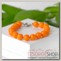 Браслет шар №10 Майорка, цвет оранжевый - бижутерия