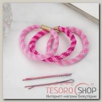 Набор для волос Радуга (28 невидимок, 6 резинок) розовый - бижутерия