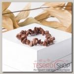 Браслет крошка на резинке Авантюрин коричневый - бижутерия