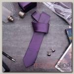 Набор мужской Премьер галстук 145x5см, запонки, цвет фиолетовый - бижутерия