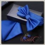 Набор джентльмена Запонки/платок/бабочка цвет небесно-синий - бижутерия