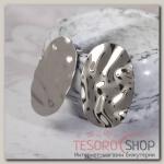 Серьги металл Атмосфера галька, цвет серебро - бижутерия
