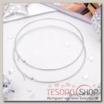 Серьги кольца Классика, цвет серебро, d=10см - бижутерия