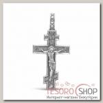 Крест нательный шестиконечный, посеребрение - бижутерия