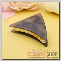 Краб для волос Версаль 9 см треугольник фиолет - бижутерия