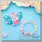 Набор детский Выбражулька 2 предмета: заколка, браслет, девочка с букетом, цвет МИКС - бижутерия