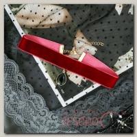 Чокер Авантюра капля, цвет бордово-чёрный в золоте - бижутерия