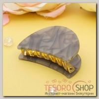 Краб для волос Версаль 6 см овал серый - бижутерия