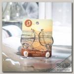 Серьги с жемчугом Эксклюзив узелок с бусиной, цвет белый в серебре - бижутерия
