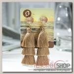 Серьги Кисти ванесса, цвет коричневый, L кисти 5,5 см - бижутерия