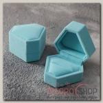 Футляр под кольцо Кристалл, 6x6, цвет голубой - бижутерия