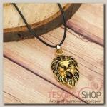 Кулон мужской Лев, цвет чернёное золото - бижутерия