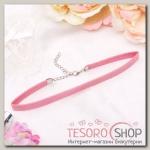 Чокер Амели с блёстками, цвет розовый в серебре - бижутерия