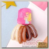 Резинка для волос Махрушка петельки (набор 6 шт) 5 см, коричневые оттенки - бижутерия