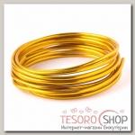 Проволока для плетения D=3.8мм, намотка 3м, цвет золотой