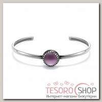 Браслет-каркас Орбита, посеребрение, цвет фиолетовый - бижутерия
