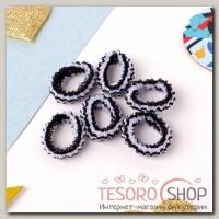 Резинка для волос Махрушка блеск (набор 100 шт) 2,5 см, полоски - бижутерия