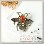Брошь Янтарь пчела