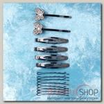Невидимка для волосАмалия (набор 16 шт, 6 см, 6,5 см) бабочка - бижутерия