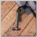 Кулон мужской Резон автомат, цвет черное серебро на чёрном шнурке, 80 см - бижутерия