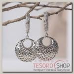 Серьги металл Ретро классика, цвет серебро - бижутерия