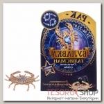 Брошь гороскоп Знаки зодиака рак, 3 х 2,5 см, цвет белый в золоте - бижутерия