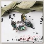 Брошь-подвеска Галиотис бабочки острокрылые, цвет зеленый