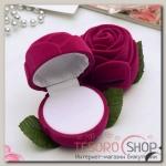 Футляр под кольцо Роза крупная 6x6x6см, цвет розовый - бижутерия