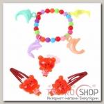 Набор детский Выбражулька 4 предмета: 2 заколки МИКС, браслет, кольцо Дельфины, цвет МИКС - бижутерия