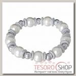 Браслет жемчуг Бусинка, цвет белый в серебре - бижутерия