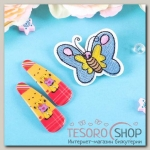 Набор детский Выбражулька 3 предмета: 2 заколки, брошь, бабочка, цвет МИКС - бижутерия