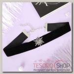 Чокер Александрия бархотка со звездой, цвет черный - бижутерия