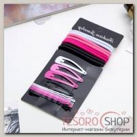 Набор для волос Классика (8 резинок, 12 невидимок) 4,5 см, 6 см, розовый - бижутерия