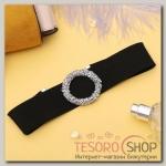 Чокер Шанталь кольцо, цвет серебряно-чёрный - бижутерия