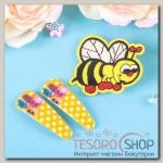 Набор детский Выбражулька 3 предмета: 2 заколки, брошь, пчелка, цвет МИКС - бижутерия