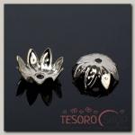 Шапочки для бусин (набор 50шт) СМ-012, цвет серебро