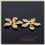 Шапочки для бусин (набор 20шт) СМ-067, цвет золото