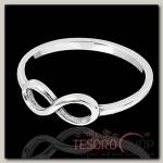 Кольцо Снуд, размер 16, цвет чернёное серебро